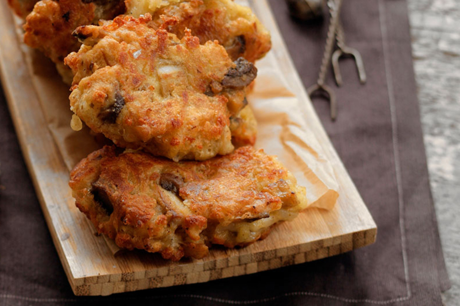 Chick pea fritters or pancakes from Rhodes