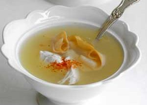 Chicken soup can be made with noodles and other pasta products, and garnished with Greek yogurt.