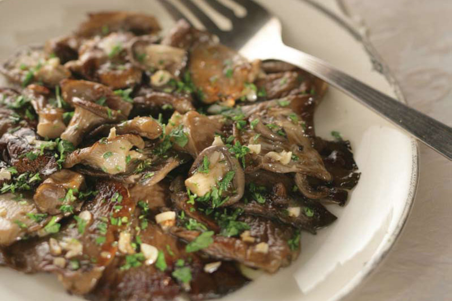 Grilled Mushrooms with Oregano and Garlic