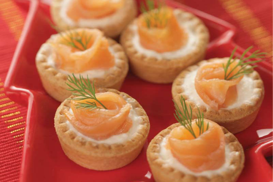 Greek Yogurt, Smoked Salmon Canapés | Greek Food - Greek Cooking ...