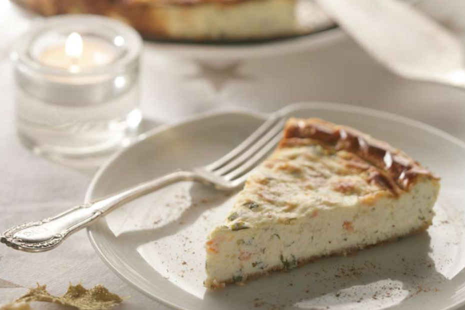 Savory Greek Yogurt Cheesecake with Smoked Trout