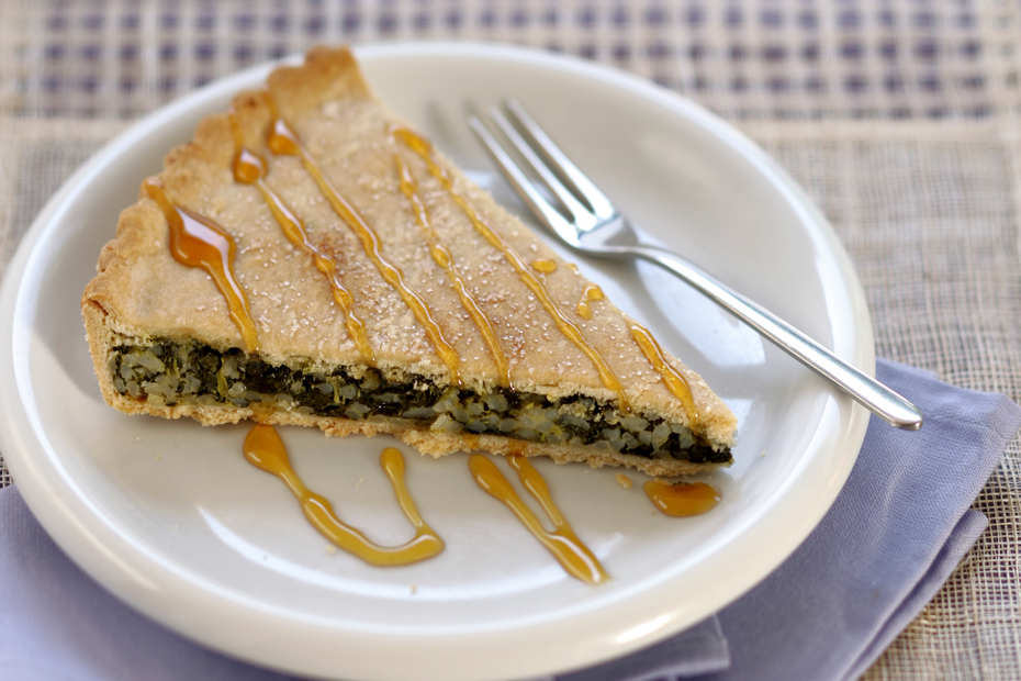 In the Cyclades, sweet greens filo pies are a regional specialty.