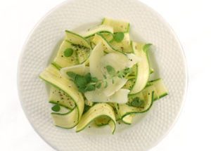 Zucchini Carpaccio with Mastiha Oil and Cretan Graviera