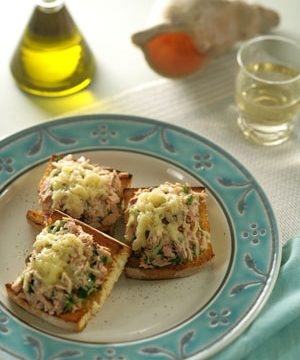 Tuna Melt with Yellow Fin Tuna from the island of Alonissos