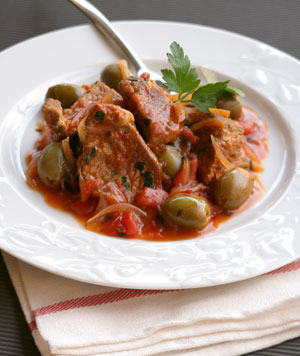 Beef Stew with Green Olives