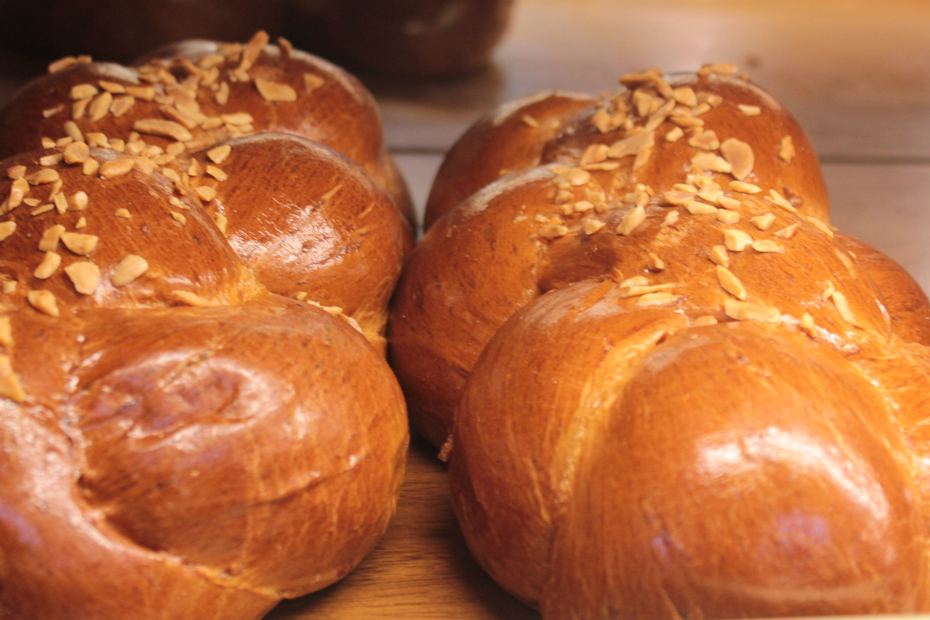 tsoureki is the Greek braided Easter bread.