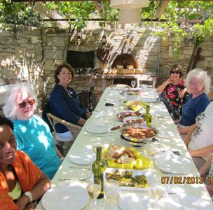 Our first day of cooking classes on Blue Zone Ikaria!