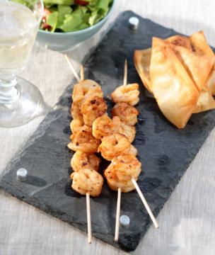 Ouzo-Marinated Grilled-Shrimp