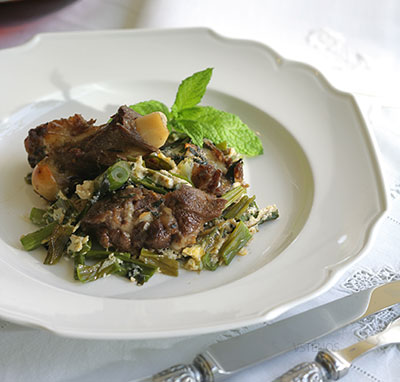 EGG-CRUSTED-GOAT-OVER-SCALLIONS