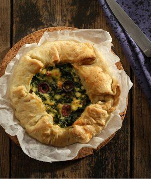 Spinach Tart with Kalamata Olives