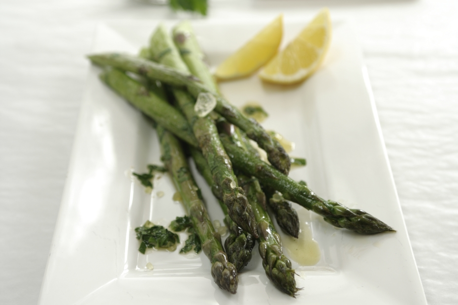 Asparagus with Mastiha Oil and Feta