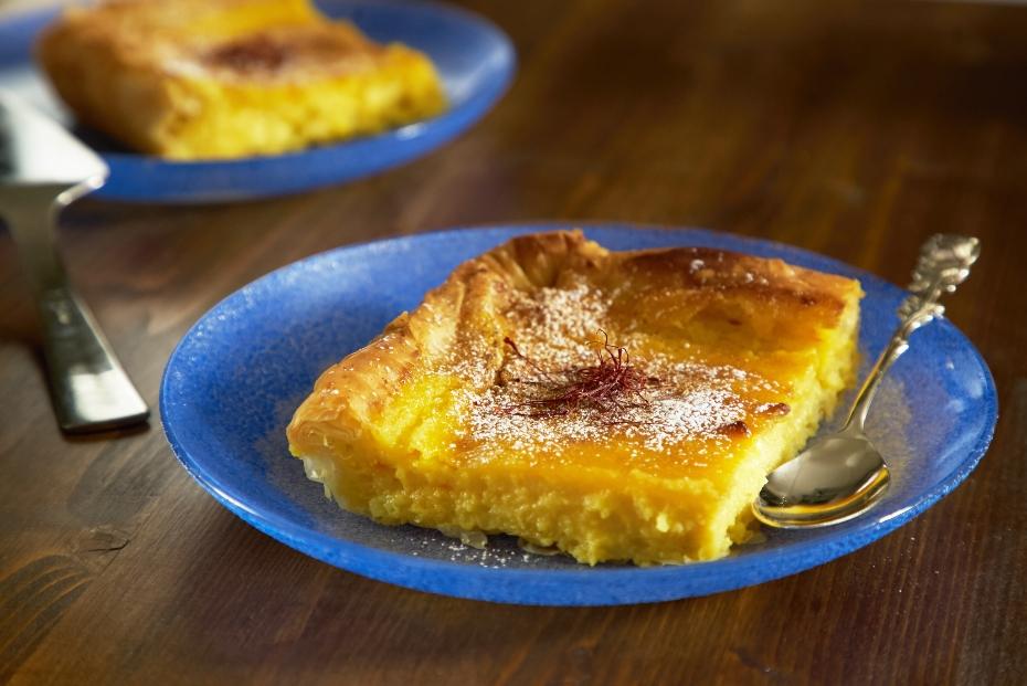 Milk Pie with Semolina Custard from Northern Greece