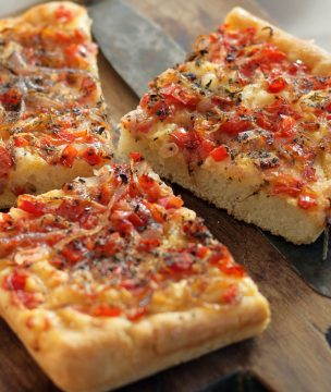 Ladenia: Traditional Vegan Pizza-Style Flatbread from Milos & Kimolos Photo: V. Stenos