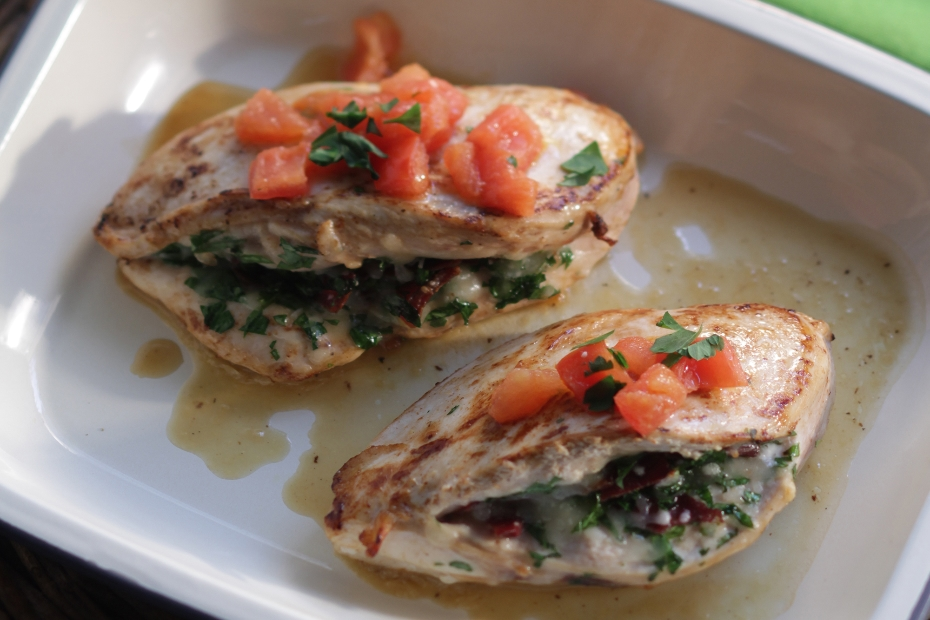 Greek Stuffed Chicken Breasts with Kasseri Cheese and Pasturma