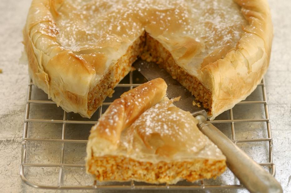 Greek Pumpkin Phyllo Pie with Greek Honey