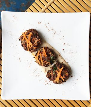 These Greek carrot patties go great with Greek yogurt.