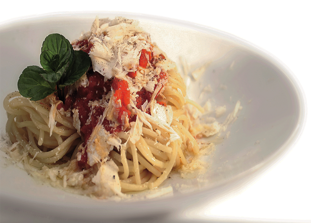 Ikaria Style Spaghetti with Fresh Tomato Sauce and Goat's Milk Cheese ...