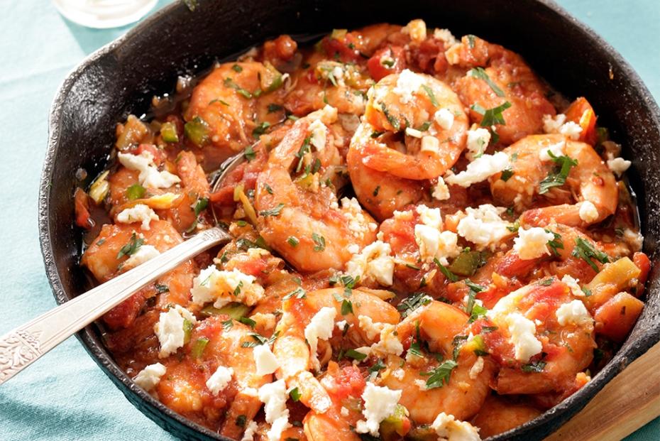 Spicy Shrimp with Feta, Ouzo & Cilantro | Greek Food ...