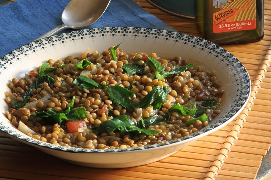 Diane Kochilas Vrisi 36 Lentil Soup with Kale
