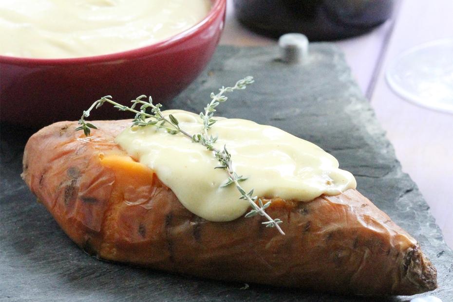 Roasted Sweet Potatoe with Greek Mustard Aioli