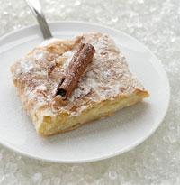 Bougatsa, a cream-filled phyllo pastry, from Thessaloniki. Photo: Vassilis Stenos