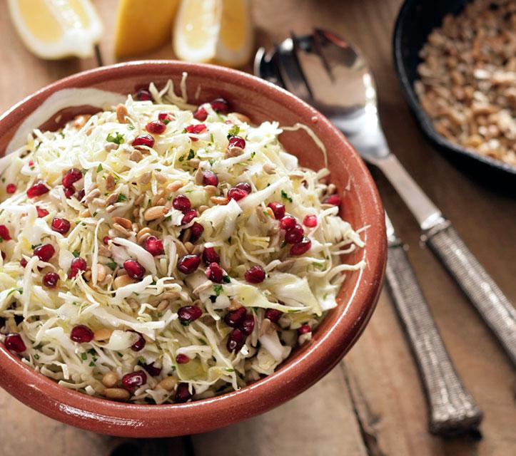 Ikaria Cabbage Pomegranate Superfood Slaw   Greek Food ...