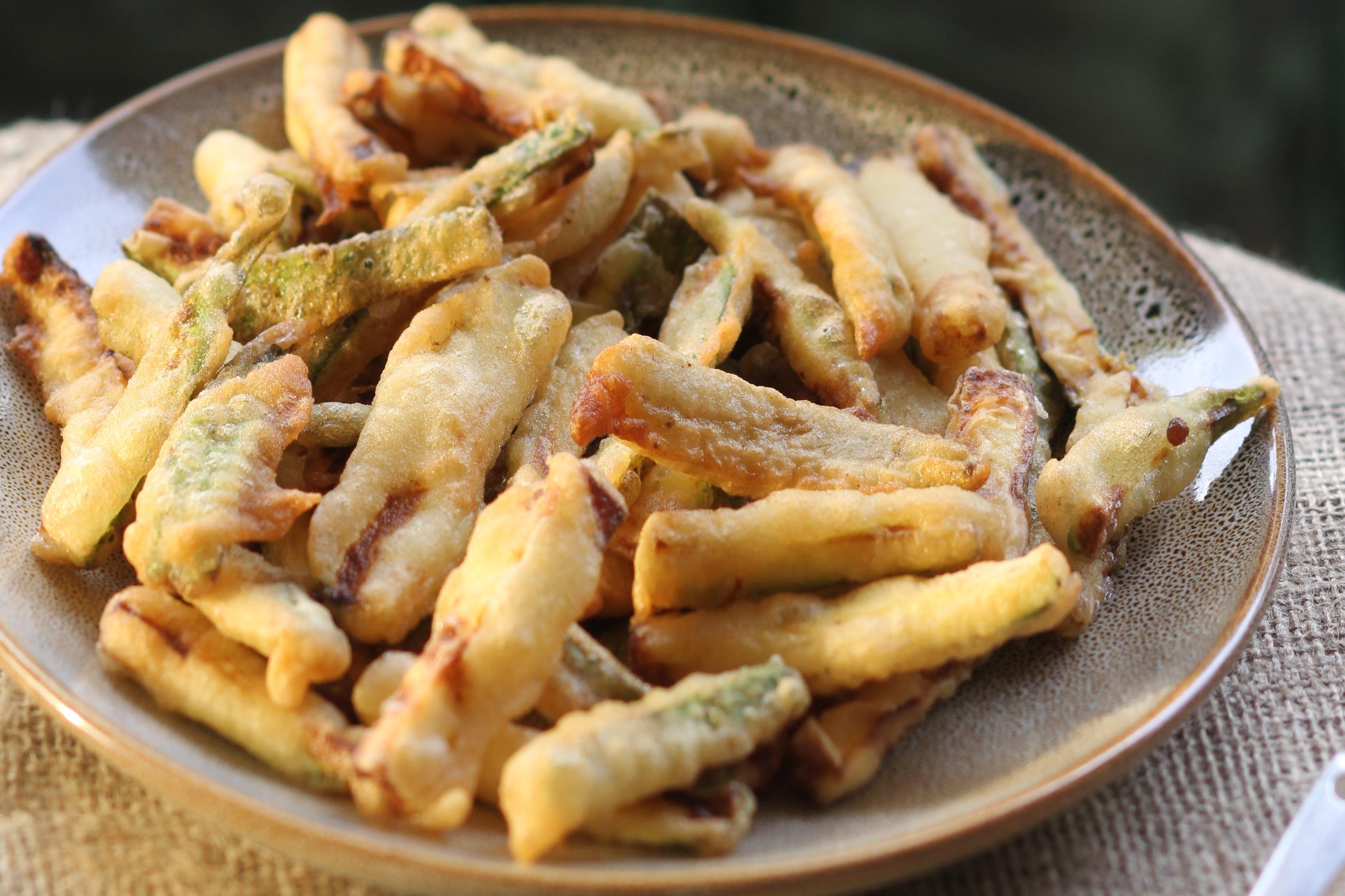 Ikaria-style crisped zucchini sticks are a healthy, addictive meze!