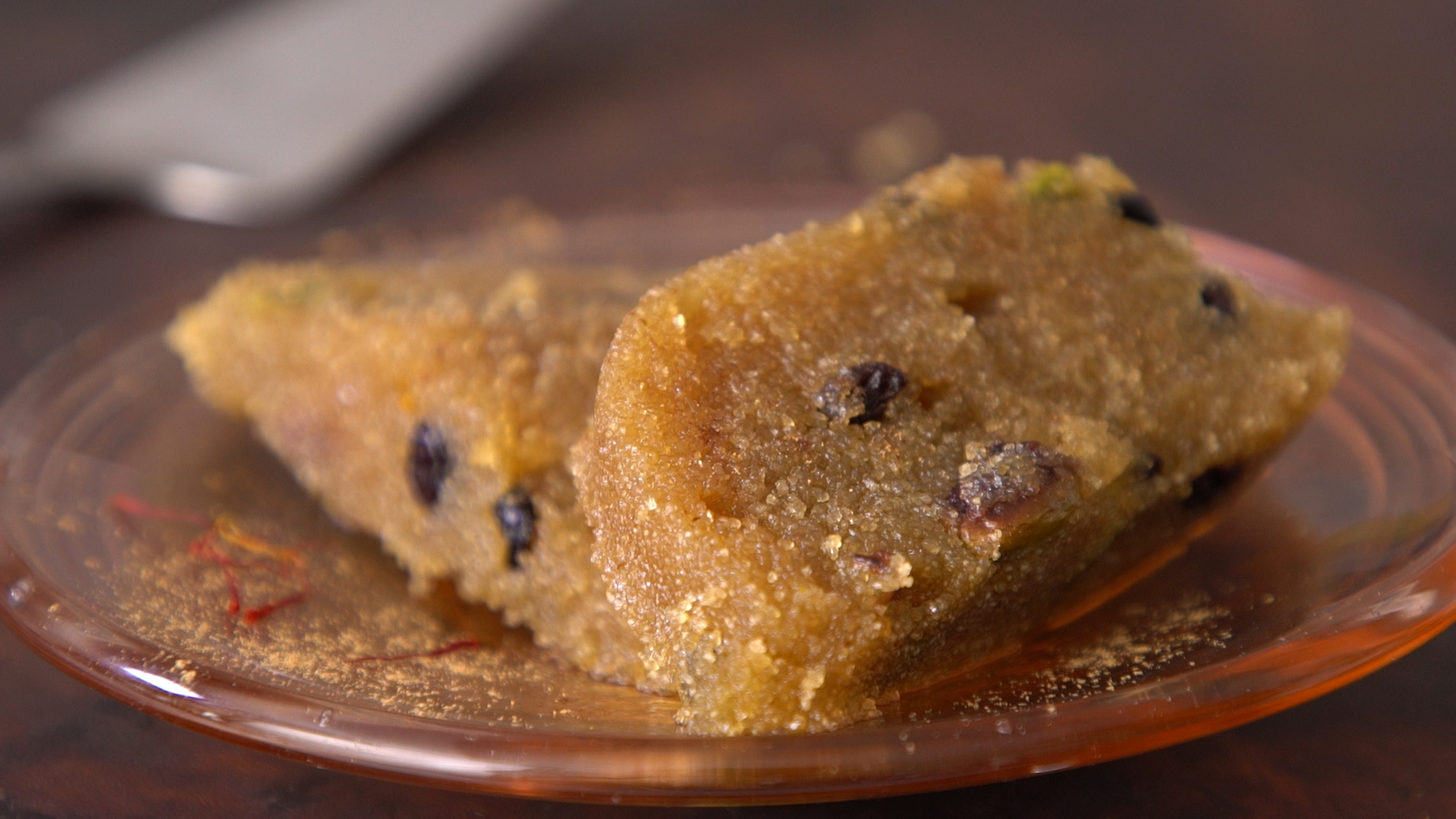 Halva Orange Spiced Semolina Pudding Cake With Dried