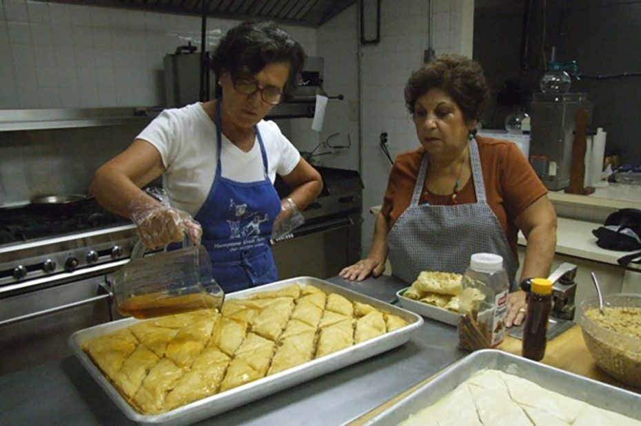Baklava, made with phyllo and walnuts, is a Greek classic.