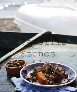Octopus, Oranges, Olives, and Ouzo are delicious