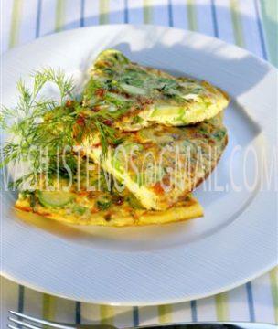 Greek Zucchini-Feta Omelet