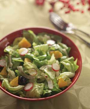 Lettuce, Fennel, Orange, Radish Salad