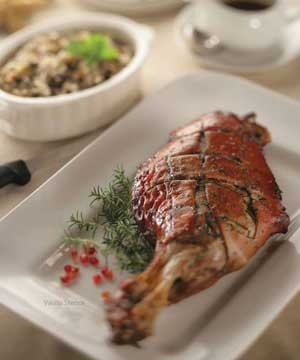 HERB-CRUSTED ROAST PORK