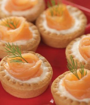 Greek Yogurt, Smoked Salmon Canapés