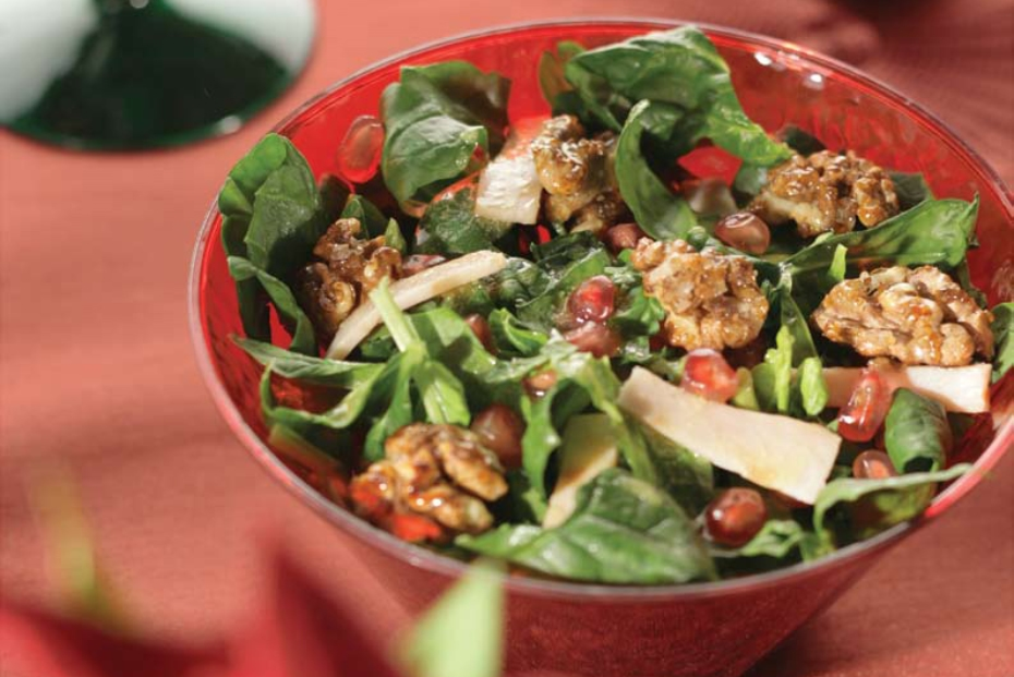 Spinach, Walnut Salad