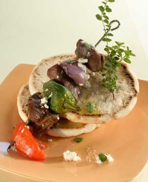 Lamb-and-Vegetable Souvlaki