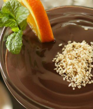 Tahini-Chocolate Mousse