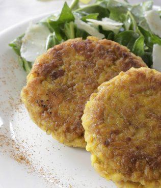 Saffron-Leek Pilafi Fritters