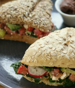 Greek Salad Sandwiches