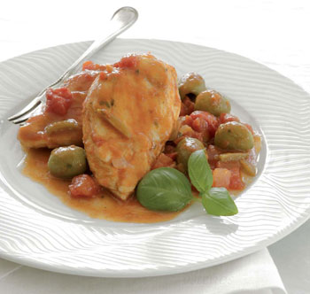 Sautéed Chicken with Herbs and Olives
