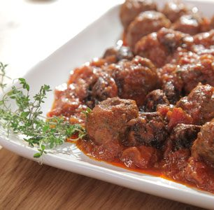 Greek meatballs with prunes and walnuts