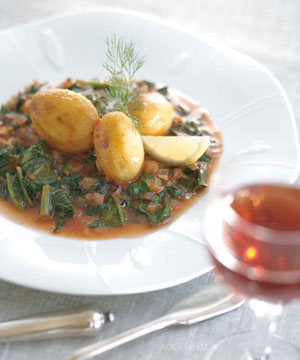 Mediterranean Diet Greek Style: A Northern Greek Spinach-Potato Stew