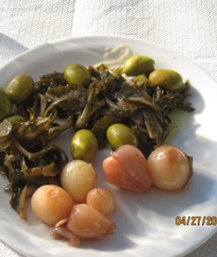 Wild pickled treats from Ikaria are perfect for ouzo.