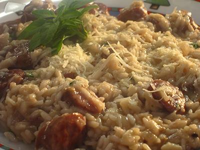 Mushroom and Sausage Risotto