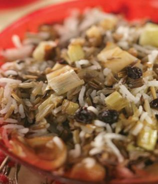 Wild Rice – Orzo Pilaf with Caramelized Leeks