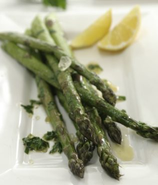 Asparagus With Mastiha Olive Oil and Feta