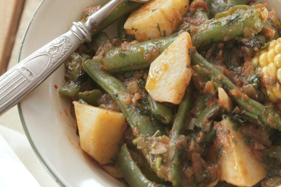 Ikaria Everything Summer Vegetable Stew Greek Food Greek Cooking Greek Recipes By Diane Kochilas