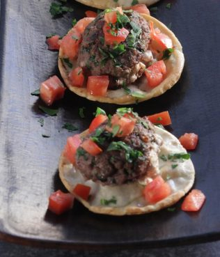 Greek Burgers Stuffed with Feta