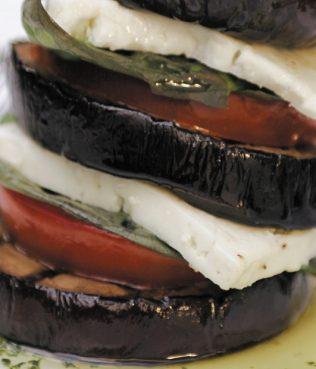 Grilled Eggplant-Feta Terrines