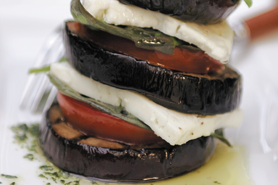 Grilled-eggplant-terrines-w-tomatoes-and-feta